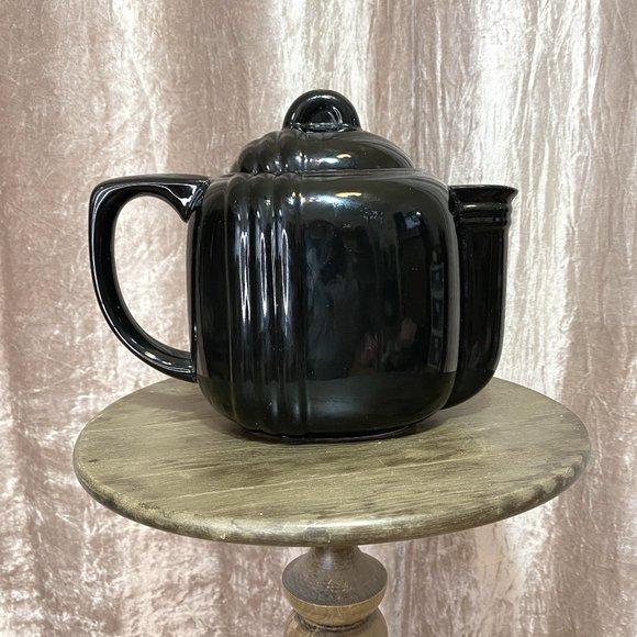 Black Art Deco Teapot
